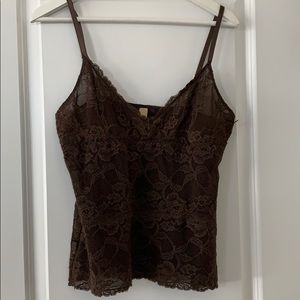 Banana Republic brown lace camisole